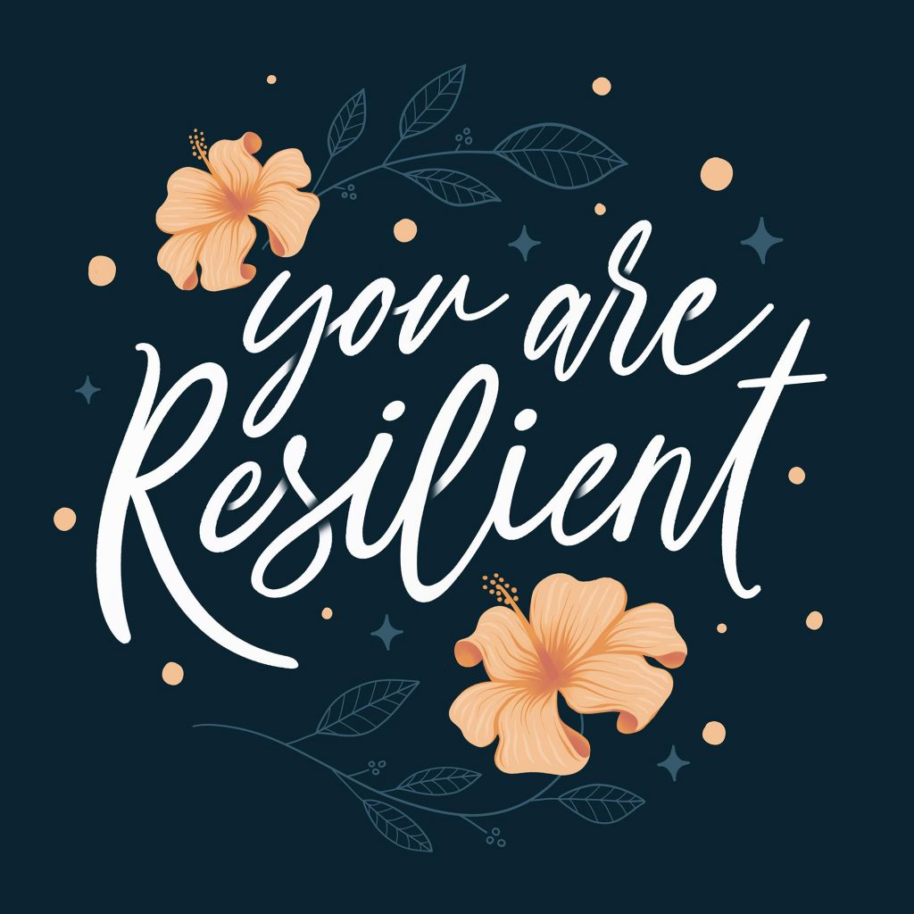 resilience-lettering with flowers